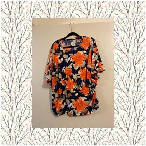 🔥$10 SALE ❄️⛄️❄️Short Sleeve Top Bright Pattern
